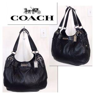 Coach Soho Black Leather Hobo Shoulder Bag